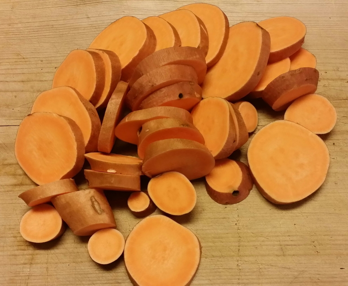 Fresh Sliced Sweet Potatoes